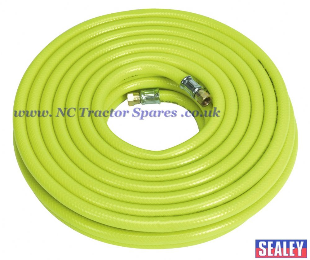 "Air Hose High Visibility 20mtr x 10mm with 1/4""BSP Unions"